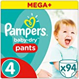 Pampers Baby Dry Pants Windeln, Gr. 4 (8-14 kg), Mega Plus, 1er Pack (1 x 94 Stück)