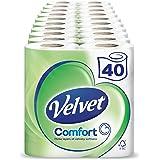 Velvet - 40 rotoli di morbida carta igienica bianca (confezione da 10x 4)