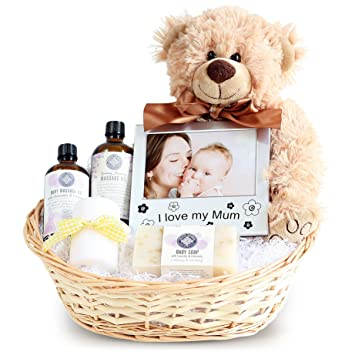 Pamper new mum baby gift basket newborn baby hamper baby pamper new mum baby gift basket newborn baby hamper baby shower ideas negle Images