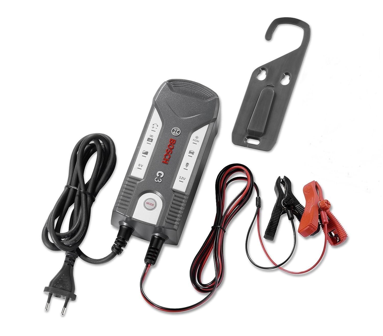 Bosch C3 completamente automatico 4-mode 6/12 V caricabatterie intelligente e Mantenitore (3.8 Amp)