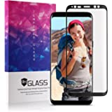 """Samsung Galaxy S8 Screen Protector Glass, Xawy 3D Curved Dot Matrix Full Screen Samsung Galaxy S8 Tempered Glass Screen Protector (5.8"""") 2017 with Easy Application Tray (NOT S8 PLUS) (Case Friendly)"""
