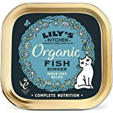 Lily's Kitchen Adult Organic Fish Dinner Complete Wet Cat Food (19 x 85 g)