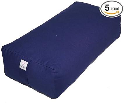 Amazon.com : Rectangular Cotton Yoga Mediation Bolster- Navy ...