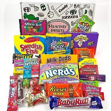 Gran cesta con American Candy | Caja de caramelos y Chucherias Americanas | Surtido de 26