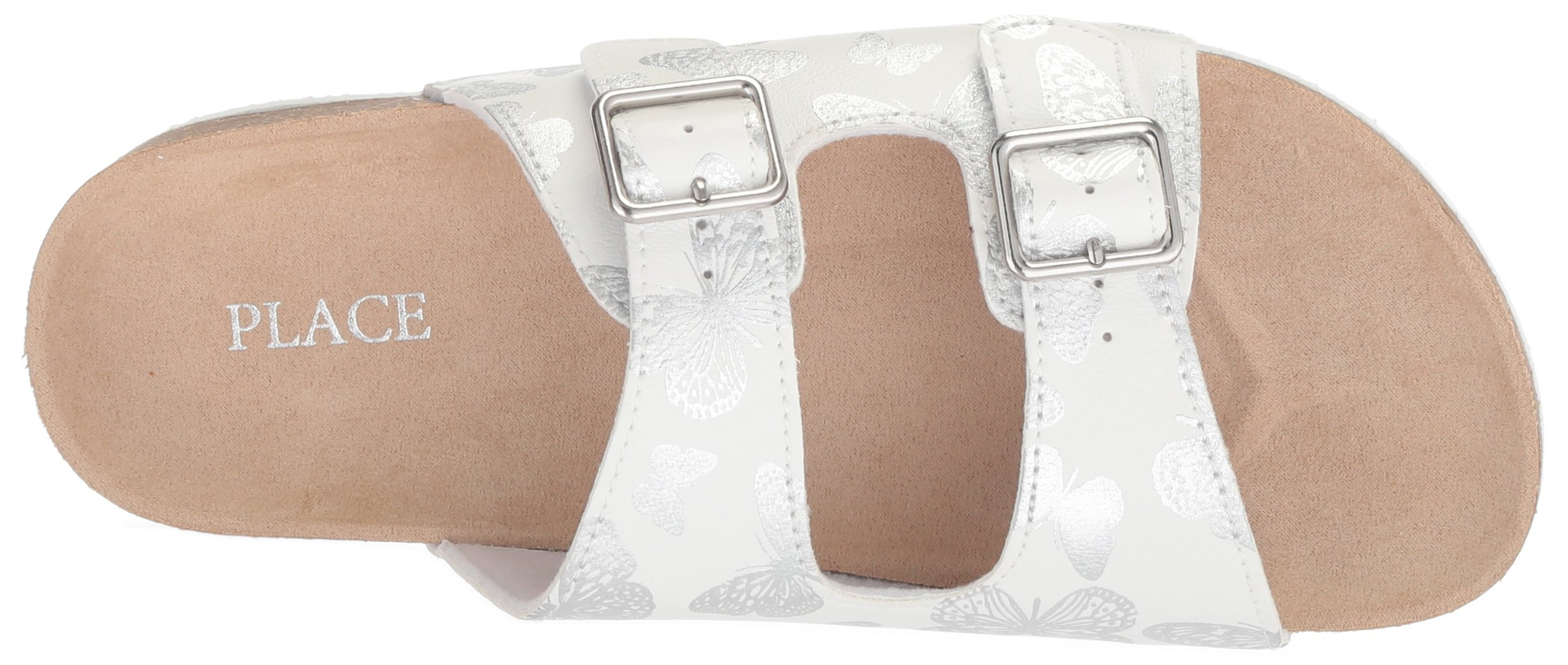 The Children's Place Girls' BG Butterfly LUN Flat Sandal, White, Youth 11 Medium US Big Kid by The Children's Place (Image #7)