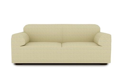 textil-home Funda de Sofá Elástica TIDAFORS, 3 plazas - Desde 180 a 240 cm. Color Marfil (Modelo Exclusivo Funda Sofá TIDAFORS IKEA)