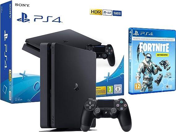 PS4 Slim 500gb Negra Playstation 4 + Fortnite Lote de ...