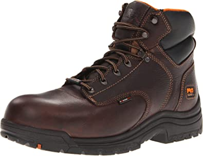 """TIMBERLAND PRO Mens Titan 6/"""" Comp Toe Waterproof Leather Work Boots 90665214"""