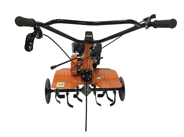 Motoazada motocultor con motor de explosión de 196 cc, muy potente, con accesorios: arado, fresa, ruedas.Certificado CE * motocolgraruote *: Amazon.es: ...