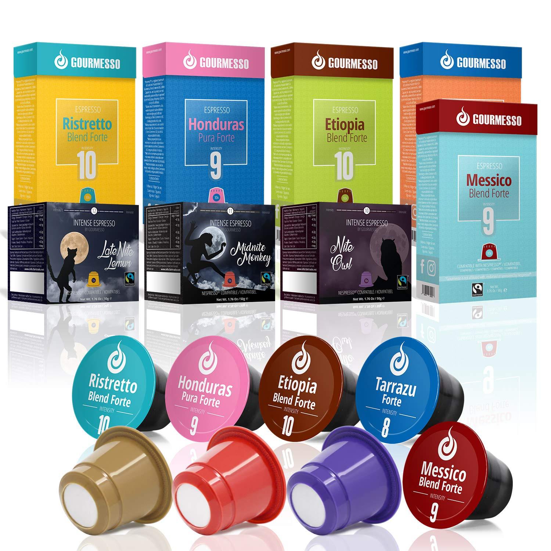Gourmesso High Intensity Box – 80 Nespresso kompatible Kaffeekapseln – 100% Fairtrade Espresso