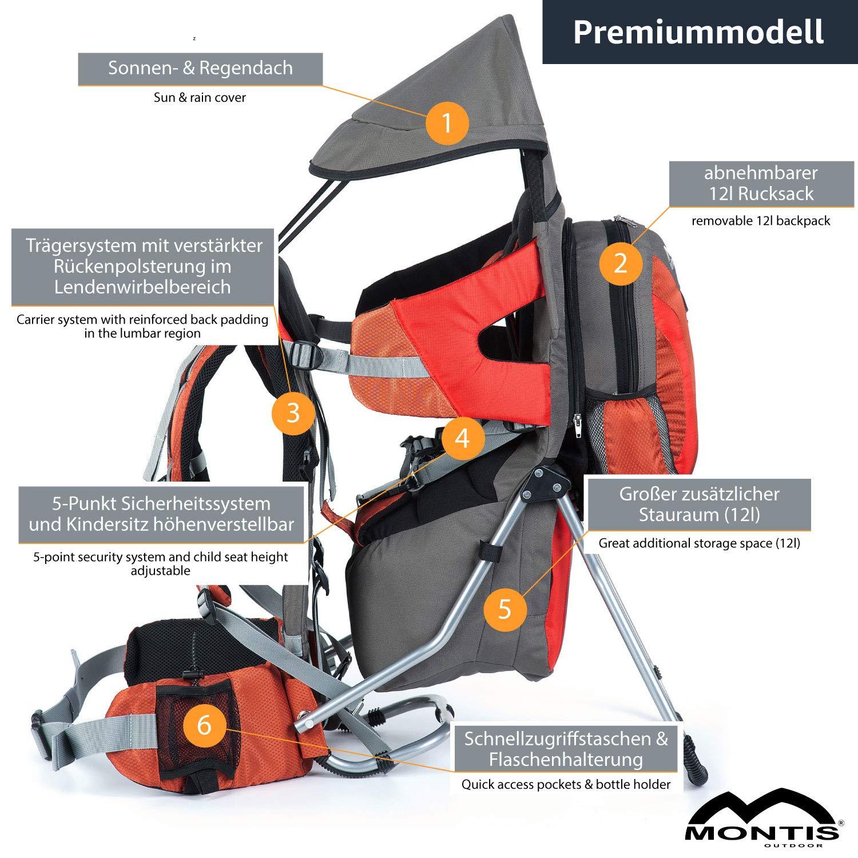 MONTIS Explore Evolution Naranja hasta 25 kg Mochila portabeb/és 2000 g