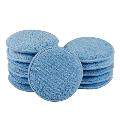 CarCarez Microfiber Foam Car Wax Applicator Pad for Hand Polish, Pack of 12: Automotive