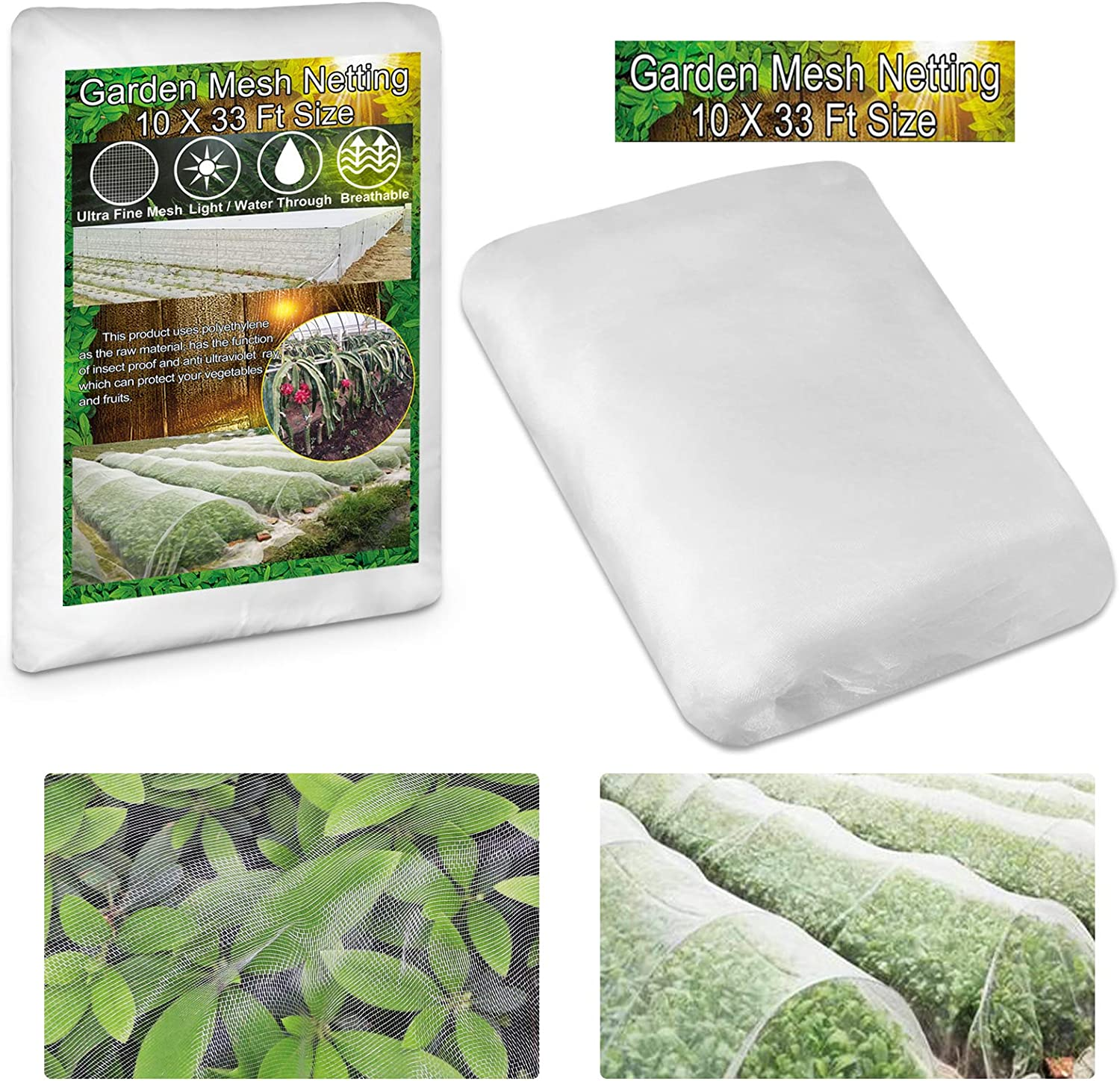 KY-YPFW 10x33 Ft Garden Netting Plant Covers - 0.032