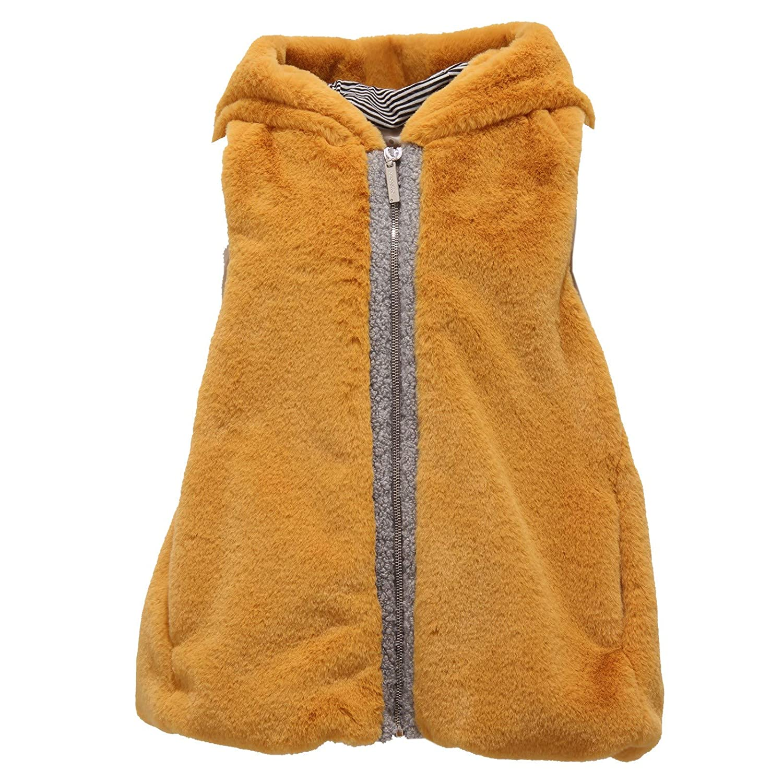 Senape 6 YEARS Simonetta 8920Y Gilet eco-Pelliccia Bimba Girl Mustard eco-Fur Gilet veste