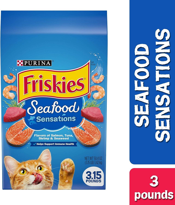 Friskies Cat Food 16.2 oz Seafood Sensations