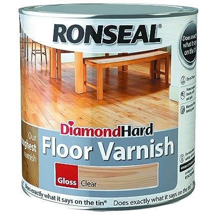 Ronseal Diamond Hard Floor Varnish Clear Gloss 2 5l Amazon Co Uk