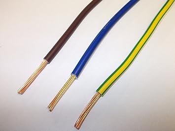 3 Metre De Chaque Couleur 6491 X 2,5 Mm Vert/Jaune Bleu Marron