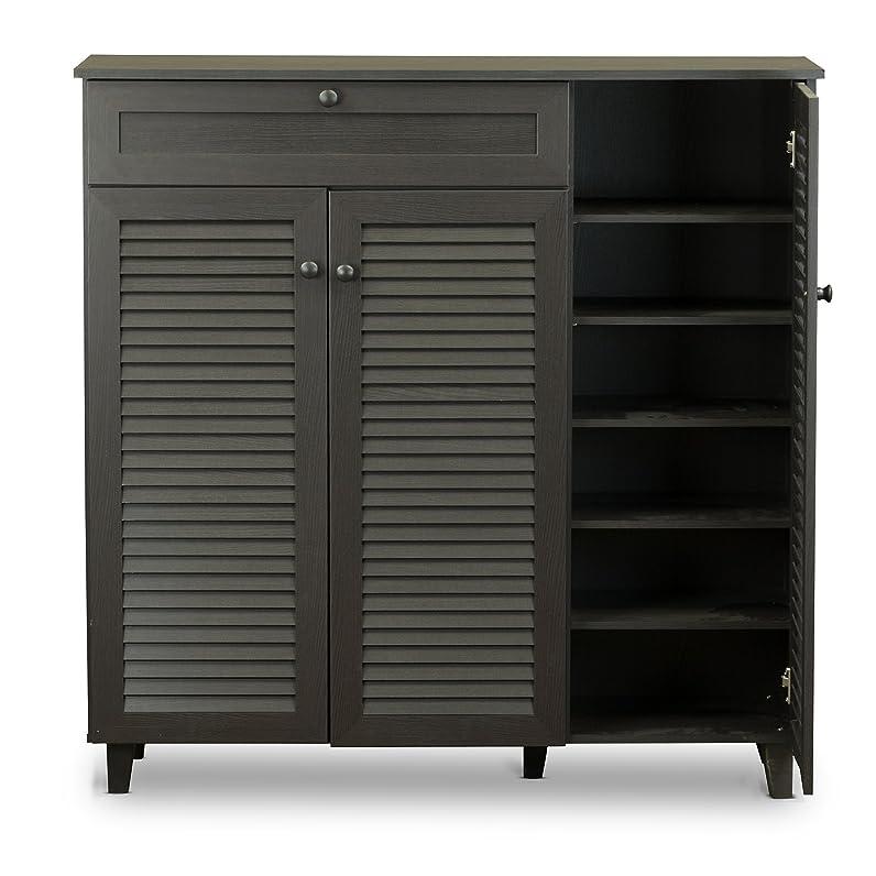 Baxton Studio Pocillo Wood Shoe Storage Cabinet, Brown: Amazon.ca ...