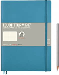 Leuchtturm1917 Softcover B5 Dotted Notebook- 121 Numbered Pages, Nordic Blue