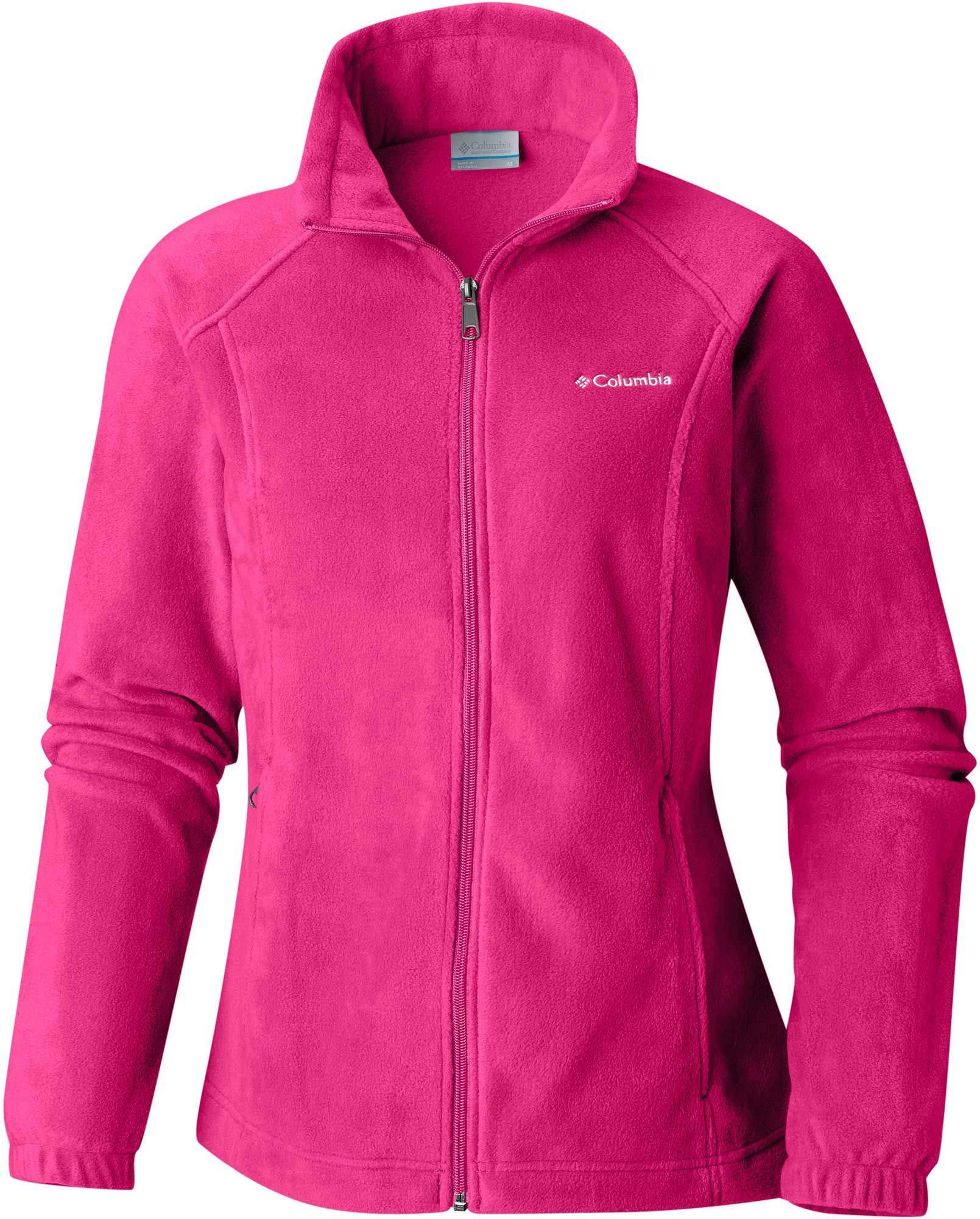 Columbia Women's Benton Springs Classic Fit Full Zip Soft Fleece Jacket, Cactus Pink X-Small