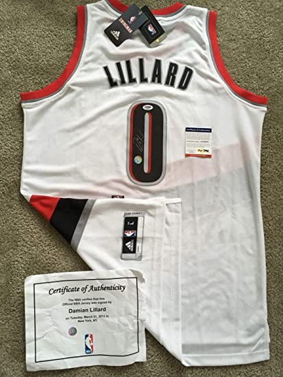 low priced cd78d 35732 Damian Lillard Autographed Signed Memorabilia Authentic ...