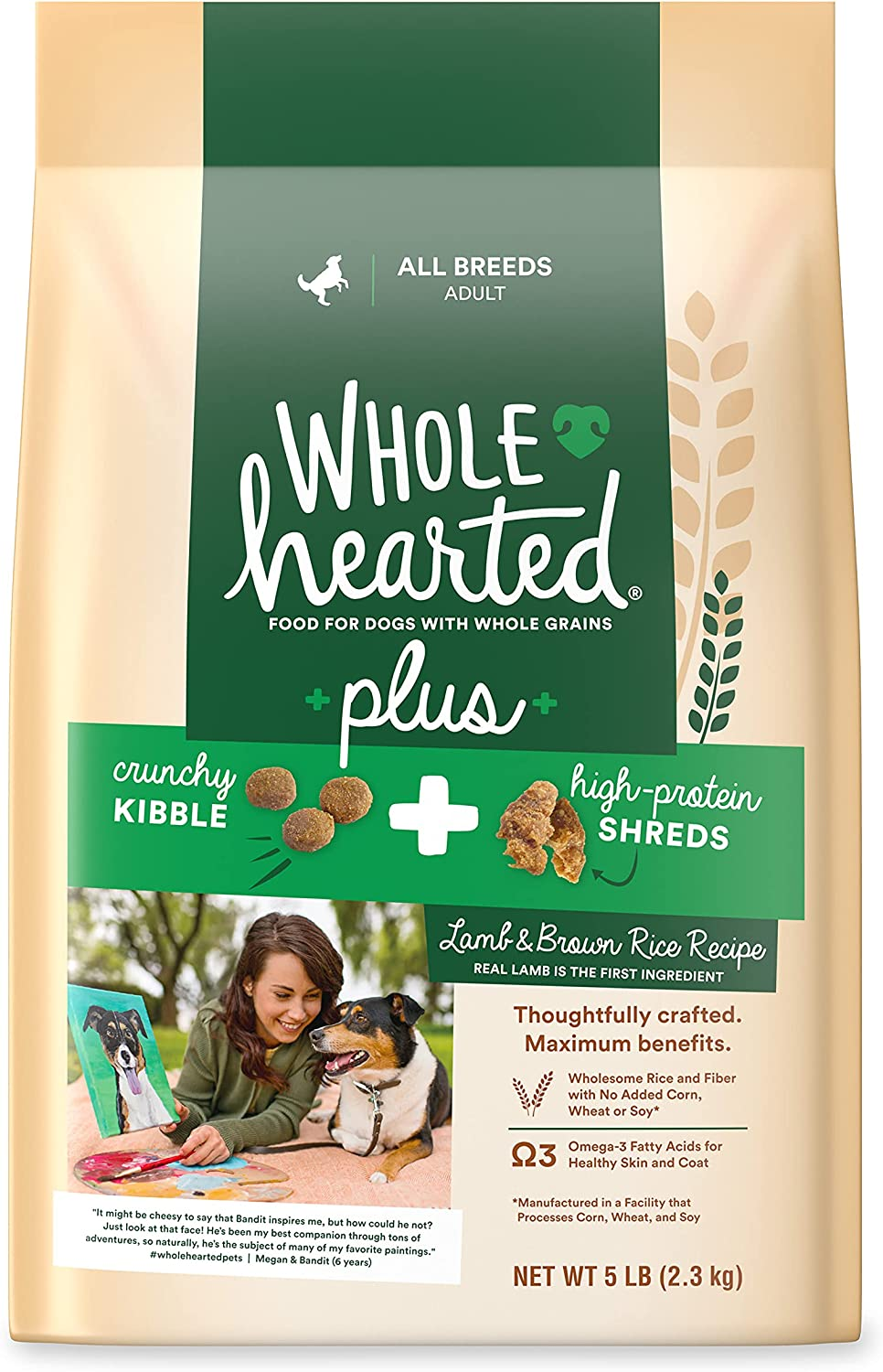 Petco Brand - WholeHearted Plus Lamb & Brown Rice Recipe with Whole Grains Dry Dog Food, 5 lbs.