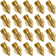 20 PCS 3D Printer Nozzle 0.4mm MK8 Extruder Head for Creality Cr10