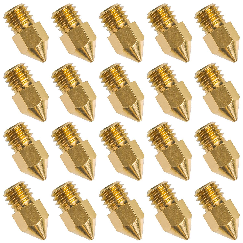 20 PCS 3D Printer Nozzle 0.4mm MK8 Extruder Head for Creality Cr10 GQH1987162 3D-Printer-Nozzle
