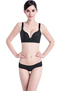 00444227ecc63 Hexingshan Nursing Bra Set Without Rims Feeding Together Thin Section Front  Double Opening Buckle