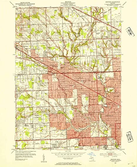Amazon Com Yellowmaps Redford Mi Topo Map 1 24000 Scale