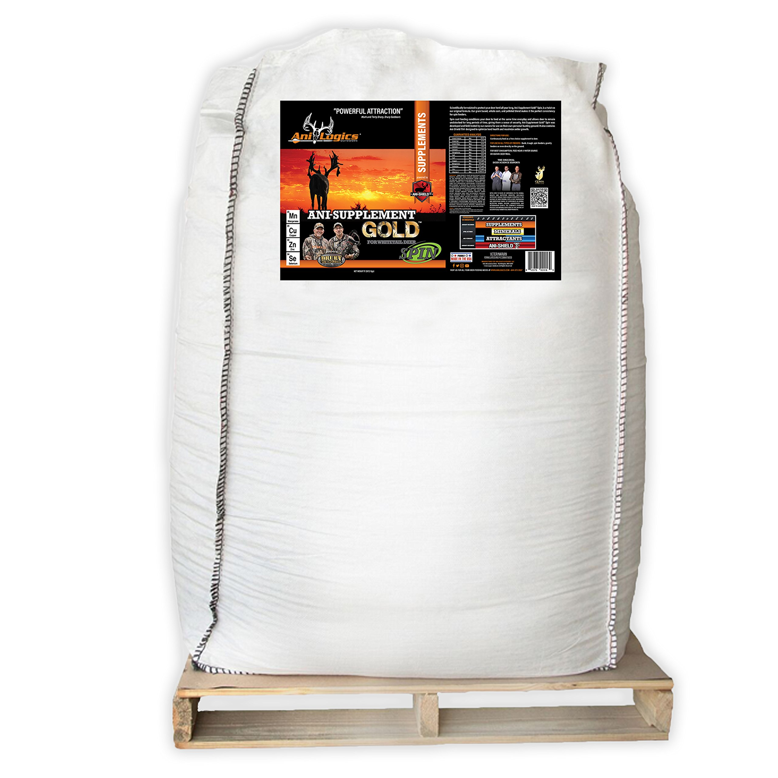 Ani-Logics Outdoors Ani-Supplement GOLD Spin 1 Ton Tote