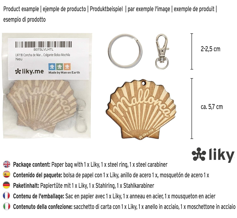 LIKY/® Surf Tavola Portachiavi Originali in legno inciso idea regalo per il compleanno appassionati di sport acquatico uomo donna hobby pendente borsa zaino