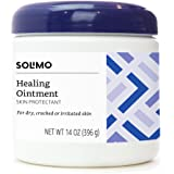 Amazon Brand - Solimo Healing Ointment Skin Protectant, Fragrance Free, 14 Ounce