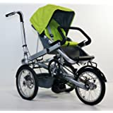 Green Family Stroller Bike for Children 6 Months to 5 Years of Age MCB-01S ALU