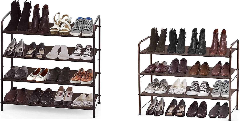 Simple Houseware 4-Tier + 3-Tier Shoe Rack Storage Organizer, Bronze