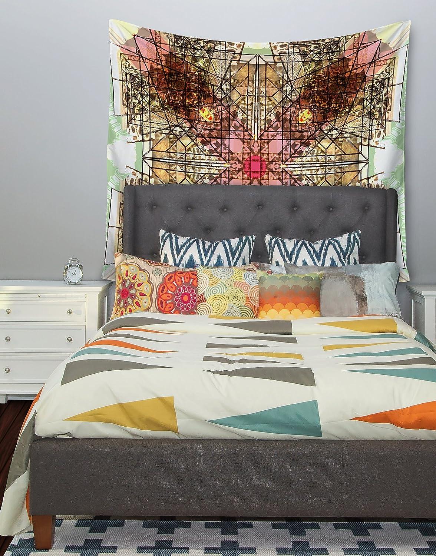 Kess InHouse Danii Pollehn Viereck Geometric Wall Tapestry 68 X 80