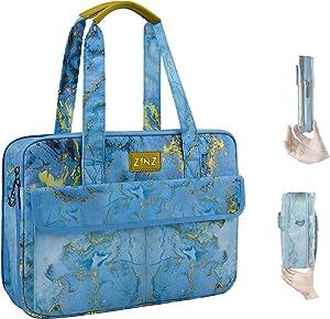Super Slim & Expandable 14-15 Inch Laptop Tote bag, Anti Theft Shoulder Bag Water-Repellent Laptops Briefcase Case Teacher Bag Gifts for Women, (3.7L-10.3L), Marble