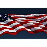 Large 3 x 5 USA Flag & 2 Car Flags  Original, Outdoor America US Decorative Flag With Embroidered Stars, Sewn Stripes & Brass Grommets  Display Your Patriotic Pride  Heavy 200D Nylon By America Kings