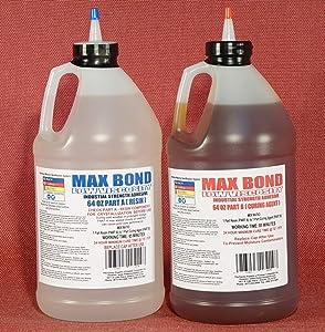 MAX MARINE GRADE Epoxy Resin System - 1 Gallon Kit - Wood Sealing, High Strength Fiberglassing Marine Applications, Composite Fabricating Resin