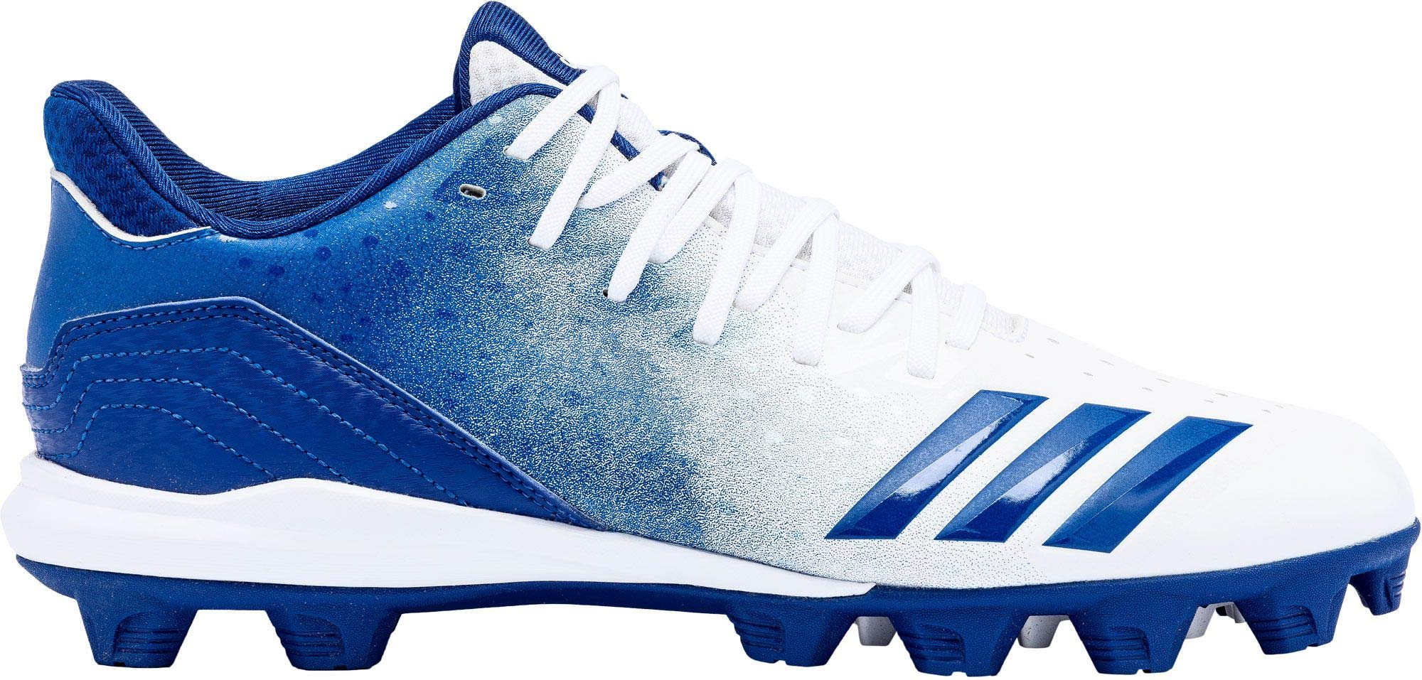 adidas Kids' Icon 4 Splash MD Baseball Cleats (6, White/Blue)