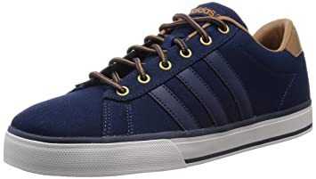 separation shoes fd92e 2b281 ... coupon for adidas neo daily sneakers canvas shoes blue for men blue  d43d9 f5622
