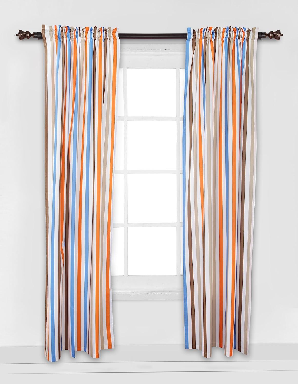 Mod Sports Stripes Curtain Panel Bacati BISPBOCP2