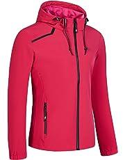 97db34a407f UDAREIT Womens Windbreaker Jacket Waterproof Rain Coat Hooded Hiking Running