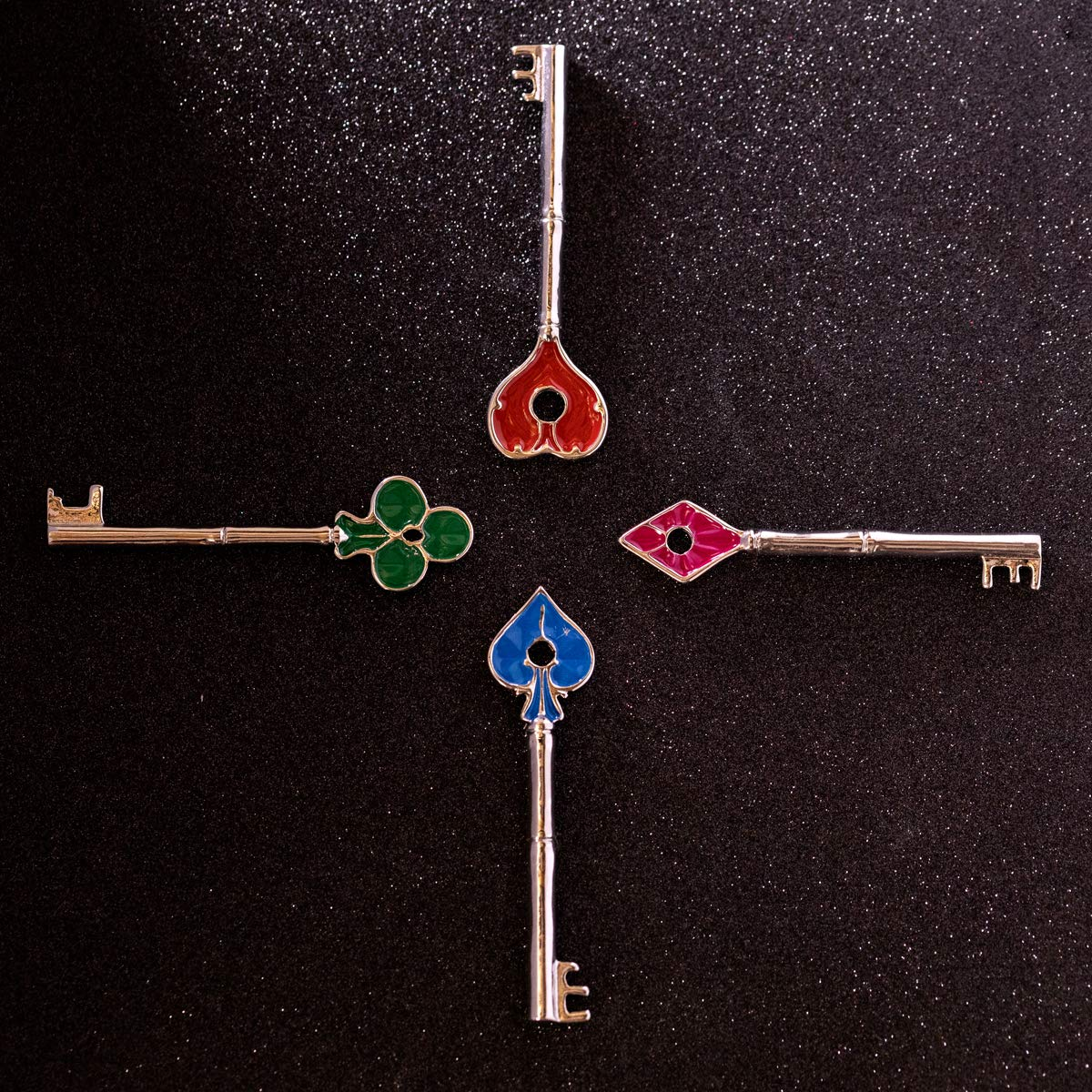 Resident Evil 2 Remake Keys Collection Set of 4 Pcs Zinc Alloy Keychain RPD Necklace Pendant Cosplay Costume Accessories