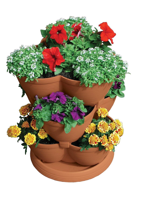 Amazon.com : Akro Mils RZJMEDI Medium Stack A Pot, 30 Quart : Planters :  Garden U0026 Outdoor