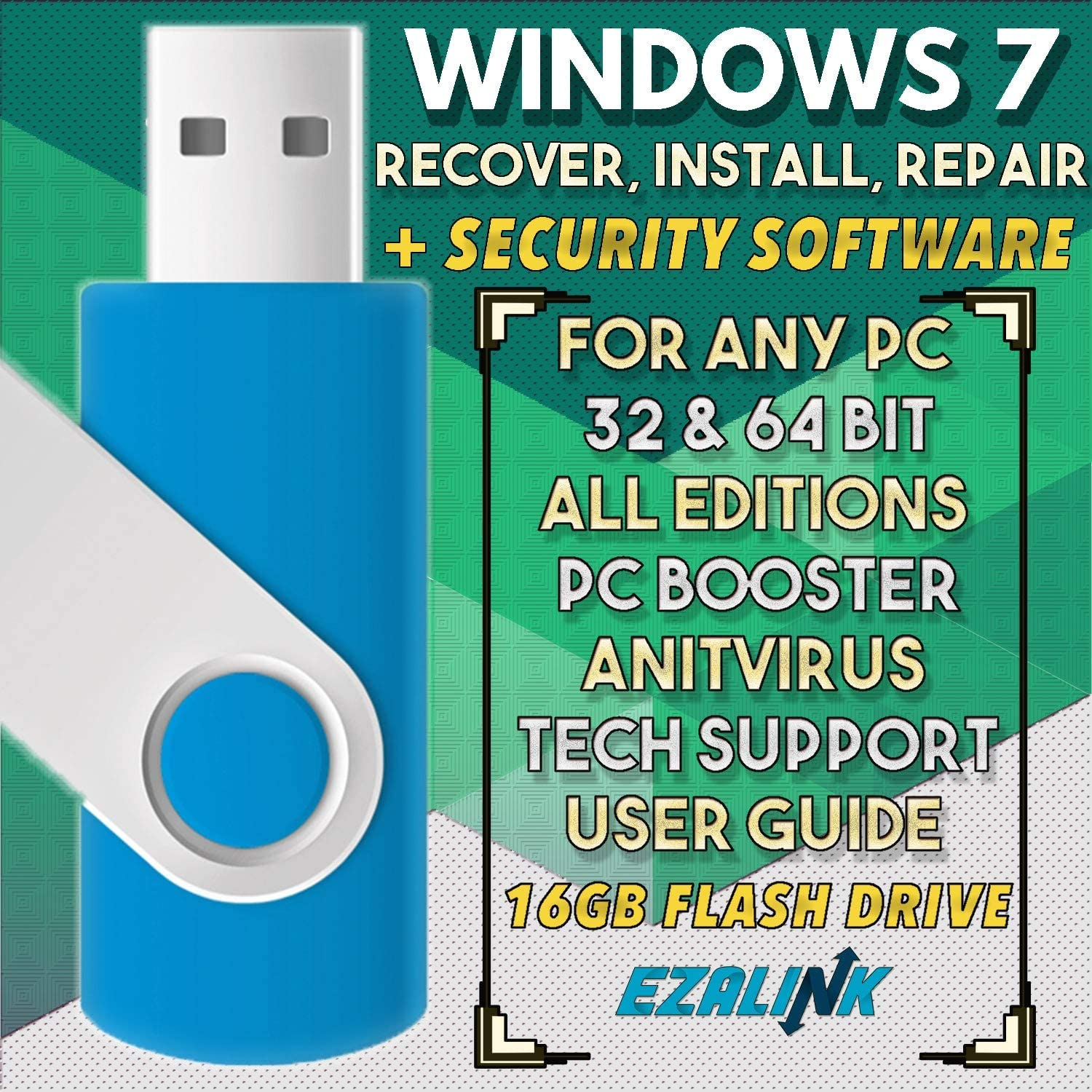 Ezalink USB for Windows 7 SP1 Repair Install Recovery Restore Boot Fix Flash Drive | 32 818QloC2nrL