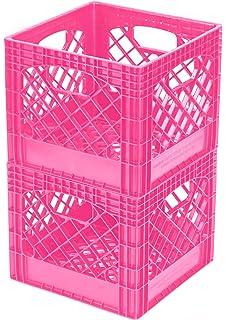 buddeez breast cancer awareness milk crates 2pack