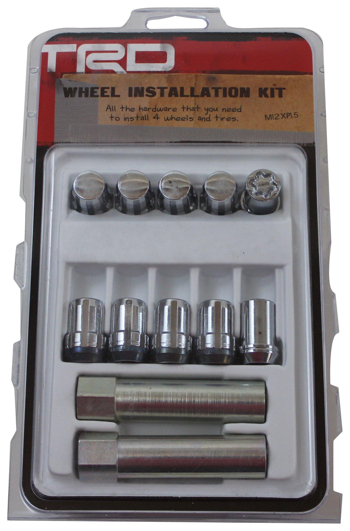 Genuine Toyota Accessories PTR27-35100 TRD Wheel Installation Kit