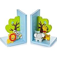 Mousehouse Gifts Sujetalibros Infantiles y bebé con Safari Animales para la habitación de niños y bebés