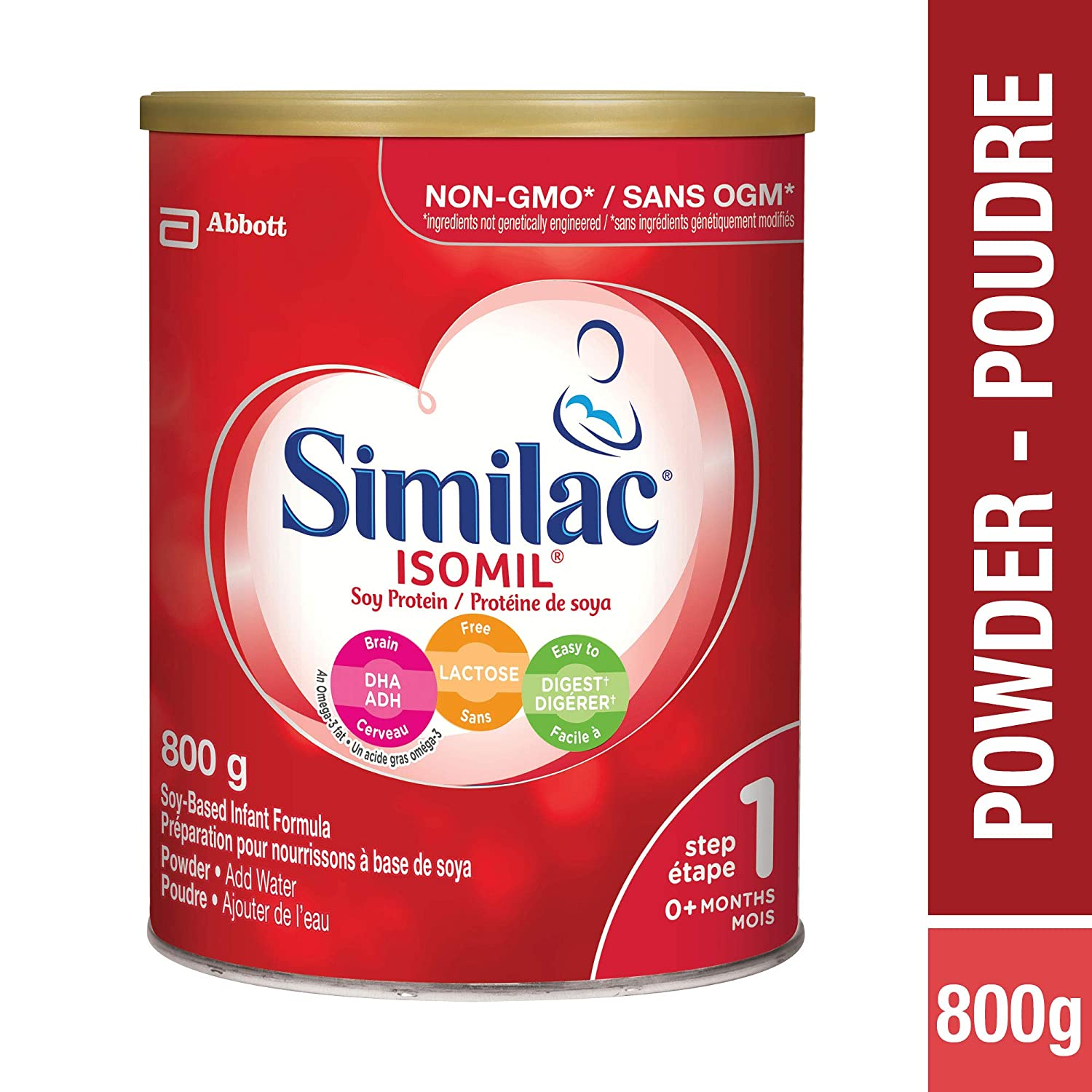 Abbott Laboratories Similac Isomil with Dha Step 1 Powder, 800g Abbott Laboratories Canada ca health and personal care ABC6O 0S571353